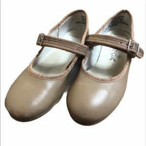 Little Girl Capezio Tap Shoes.